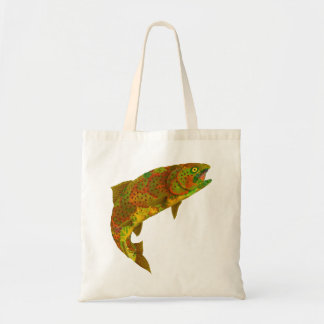 Aspen Leaf Rainbow Trout 6 Tote Bag