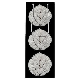 Aspen Leaf Skeleton 1 Wine Gift Bag