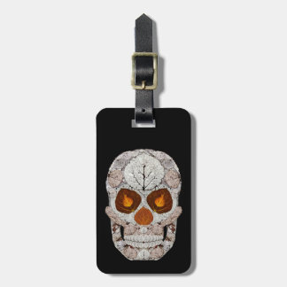 Aspen Leaf Skull 11 Luggage Tag