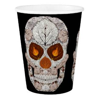 Aspen Leaf Skull 11 Paper Cup