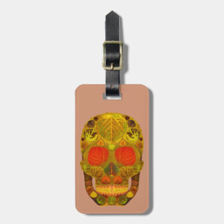 Aspen Leaf Skull 12 Luggage Tag