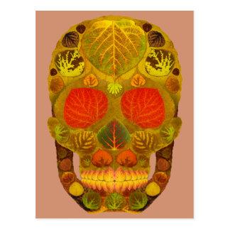 Aspen Leaf Skull 12 Postcard