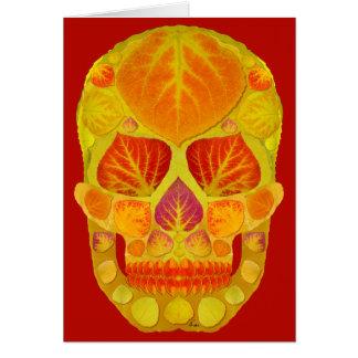 Aspen Leaf Skull 13 Card