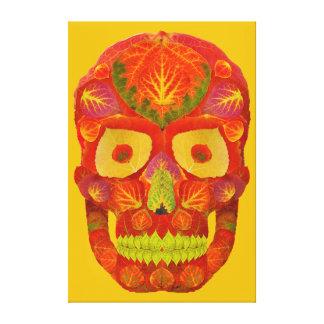Aspen Leaf Skull 16 Canvas Print