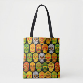 Aspen Leaf Skulls seamless pattern 2018 Tote Bag