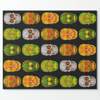 Aspen Leaf Skulls Wrapping Paper
