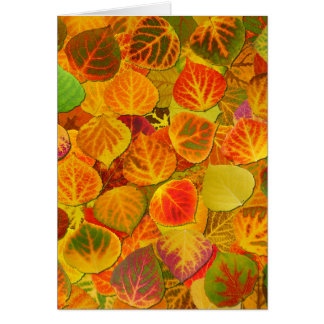 Aspen Leaves Collage Solid Medley 1 Card