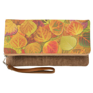 Aspen Leaves collage solid medley seamless 1 Clutch