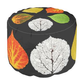 Aspen Leaves Medley Pouf