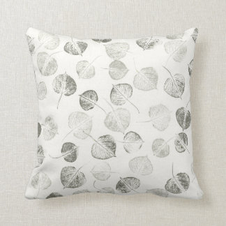 Aspen Leaves Pattern Throw Pillow