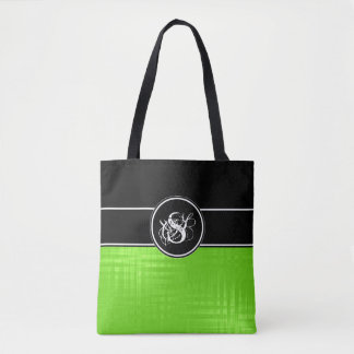 Aspen Lime Monogram Tote Bag