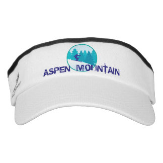 Aspen Mountain Teal Ski Circle Visor