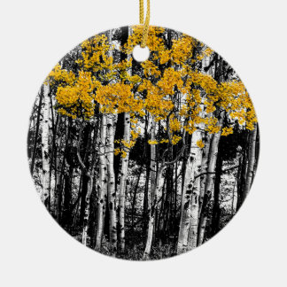 Aspen Touch of Orange Ceramic Ornament