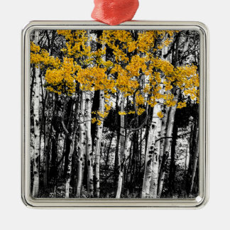 Aspen Touch of Orange Metal Ornament