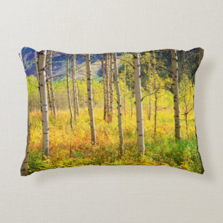 Aspen Trees in Autumn in the Rockies Accent Pillow