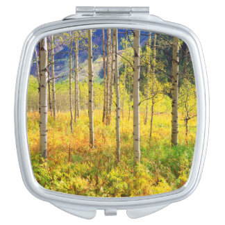 Aspen Trees in Autumn in the Rockies Makeup Mirrors