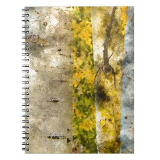 Aspen Trees in Autumn Note Books