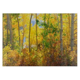 Aspen Trees In Fall | Sierra Nevada Mountains, CA Cutting Board