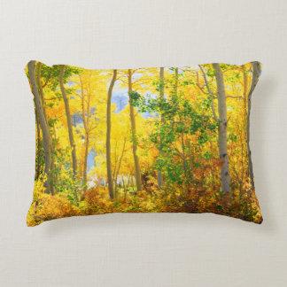 Aspen Trees In Fall | Sierra Nevada Mountains, CA Decorative Pillow