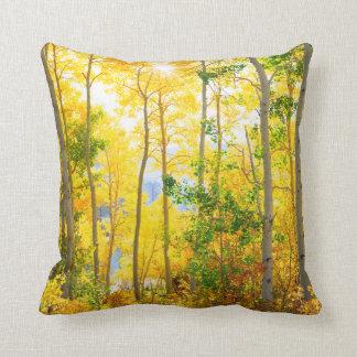 Aspen Trees In Fall | Sierra Nevada Mountains, CA Throw Pillow