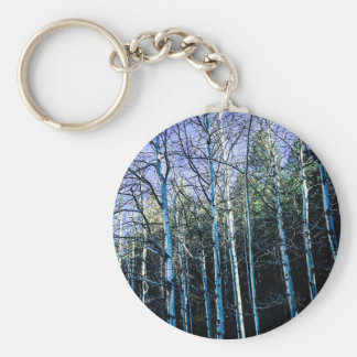 Aspen trees in the fall keychain