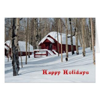 Aspen Woods in Snow Card