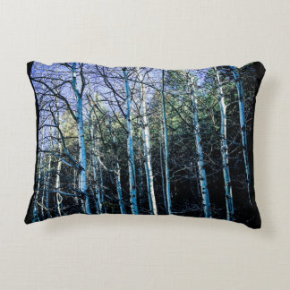 Aspens and pine trees in the fall decorative pillow