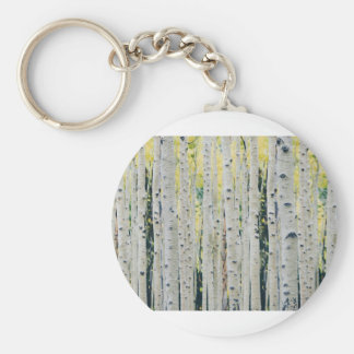 Aspens Forest - Painted Keychain