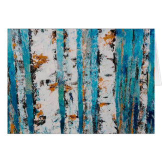 """""""Aspens In Blue"""" by Chris Rice Note Cards"""