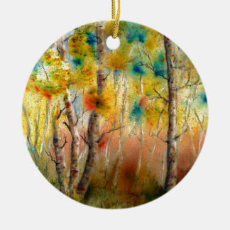 Aspens in Fall Ceramic Ornament