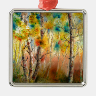 Aspens in Fall Metal Ornament