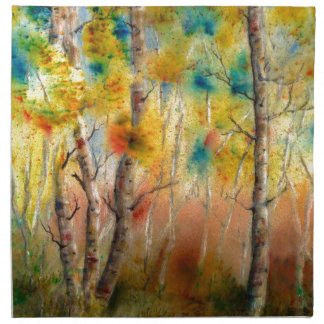 Aspens in Fall Napkin