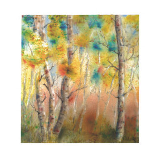 Aspens in Fall Notepad