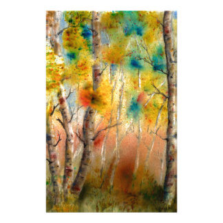 Aspens in Fall Stationery
