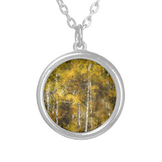 Aspens in the Fall Silver Plated Necklace