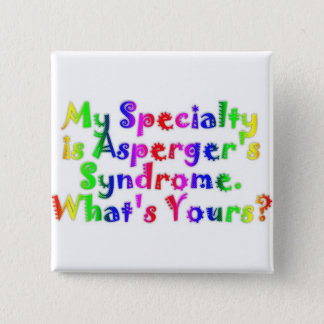 Asperger Specialty 2 Inch Square Button