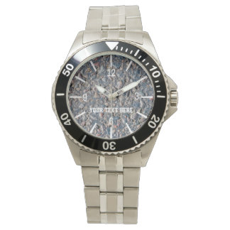 Asphalt and pebbles customizable watch