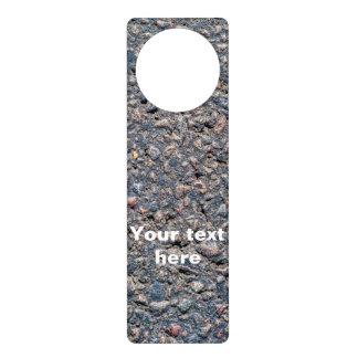 Asphalt and pebbles texture door hangers