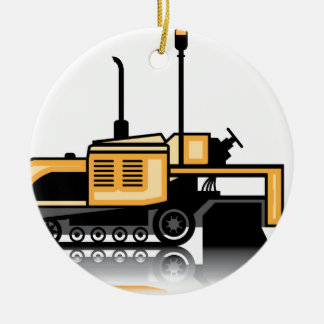 Asphalt paver vector ceramic ornament