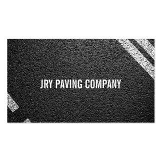 Asphalt Paving Construction Roadwork Business Card Templates