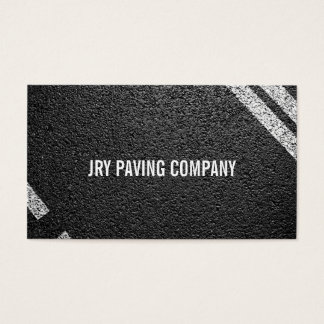 Asphalt, Paving, Construction, Roadwork Business Card