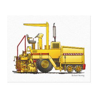 Asphalt Paving Machine Canvas Prints