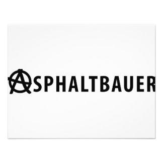 Asphaltbauer icon personalized announcement