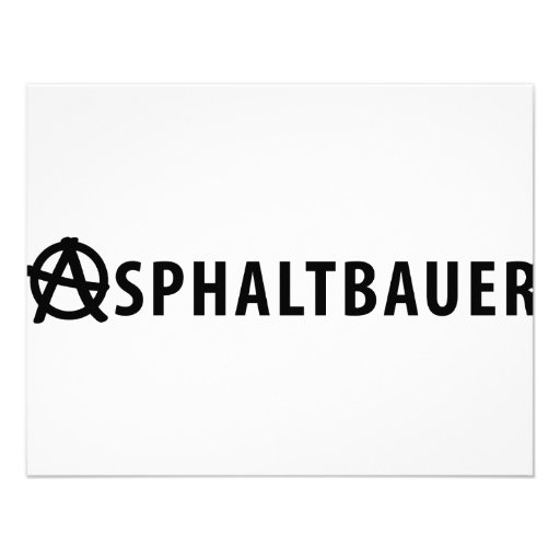 Asphaltbauer icon personalized announcement