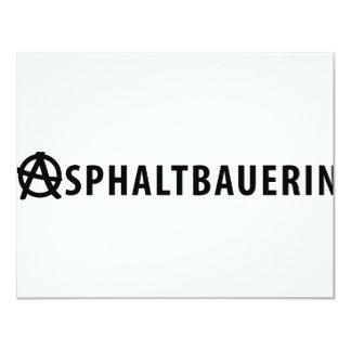 Asphaltbauerin icon personalized announcement