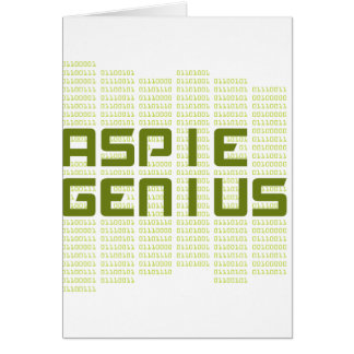Aspie Genius - Computers Greeting Card