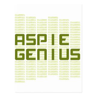 Aspie Genius - Computers Postcard