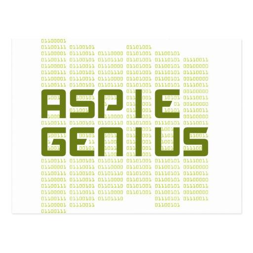 Aspie Genius - Computers Postcards
