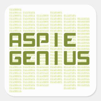 Aspie Genius - Computers Square Sticker
