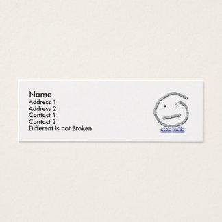 Aspie Inside Profile Card Template